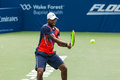 Donald young plays center court at the winston salem open in winston salem nc Stock Images