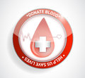 Donate blood help us save lives illustration design Stock Images