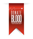 Donate blood red heart banner illustration design over white Stock Image