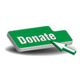 Donate button green on which is written the word and a cursor ready to press the Royalty Free Stock Photography