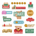 Donate buttons vector illustration help icon donation contribution charity philanthropy hands symbols and website gift