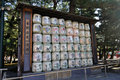 Donated sake on display Royalty Free Stock Photo