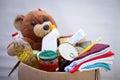 Donation box with stuff