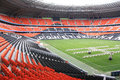 Donbass arena football stadium on april in donetsk ukraine euro matches held here Stock Photo