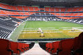 Donbass arena football stadium on april in donetsk ukraine euro matches held here Royalty Free Stock Photos