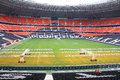 Donbass arena football stadium on april in donetsk ukraine euro matches held here Stock Photos