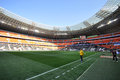 Donbass arena inside before the match between shakhtar donetsk ukraine vs metalist kharkiv ukrainian premier league matchday april Stock Image
