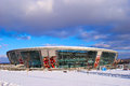 Donbass arena stadium donetsk ukraine circa winter circa winter in donetsk ukraine the hosts football club shakhtar Stock Photos