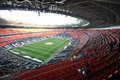 Donbass arena view before the match between shakhtar donetsk city ukraine vs dinamo kiev premier league rd round august donetsk Royalty Free Stock Photo