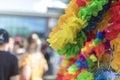 Doncaster Pride 19 Aug 2017 LGBT Festival leis merchandise stall