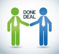 Done deal over gray background vector illustration Royalty Free Stock Photo