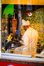 Doner kebab chef working to prepare the orders of the customers in a local restaurant located in marmara region of turkey Royalty Free Stock Images