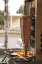 Doner kebab vertical photo of it is a traditional turkish food made of meat Royalty Free Stock Photography