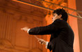 Donetsk opera orchestra sanlucar spain august performs beethoven pieces in sanlucar de barrameda spain Stock Photography