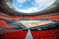 Donetsk ukraine march newly built donbass arena stadium for spectators the stadium was built specifically for the euro Stock Image