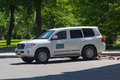 Donetsk, Ukraine - May 17, 2017: Сar of the OSCE mission working in the zoni Conflict in the east of Ukraine Royalty Free Stock Photo