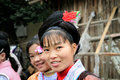 Dong minority girl china a smiling girls in village sanjiang guangxi province Stock Images