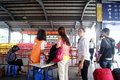 Dongguan china at the bus station for tourists in april th travel Stock Image