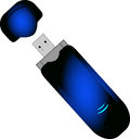 Dongle a creative wireless modem designed with illustrator Stock Images