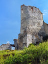 Donjon of The Castle of Cachtice, Slovakia Royalty Free Stock Photo