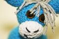 Donkey blue cloth on white background Royalty Free Stock Photography