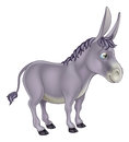 Donkey cartoon an illustration of a cute grey character Stock Photo