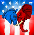 Donkey Elephant American Election Concept Royalty Free Stock Photo