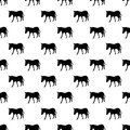 Donkey pattern seamless black for any design Stock Image