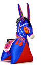 Donkey toy which is the traditional chinese handcraft on white background Royalty Free Stock Photo