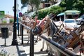 Donkeys in Mijas (Andalusia, Spain) Royalty Free Stock Photo