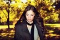 Donna alla moda e foresta Fotografie Stock