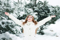 Donna di Natale Girl.Winter Immagini Stock