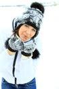 Donna di Natale Girl.Winter Fotografie Stock Libere da Diritti