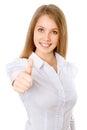 Donna felice di affari Immagini Stock