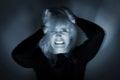 Donna mentalmente disturbata Fotografie Stock