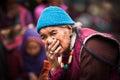 Donna tibetana al festival piega l india ladakh Fotografia Stock