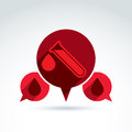 Donor blood and circulatory system icon vector conceptual styli stylish symbol for your design Royalty Free Stock Photos