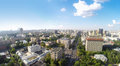 Donskoy district aerial panorama of the in moscow russia Royalty Free Stock Photos