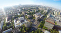Donskoy district aerial view of the in moscow russia Stock Photography