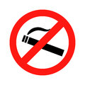Dont smoke prohibition sign vector Royalty Free Stock Photo