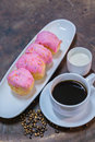 Donut with black coffee