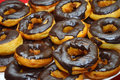 Donut cake with chocolate sauce Stock Images