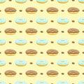 Donut cake seamless pattern