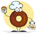 Donut character wearing a chef hat Stock Photo