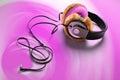 Donut earphone Royalty Free Stock Photography
