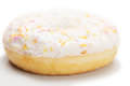 Donut with glazing and marzipans closeup photo Stock Photography