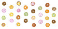 Donut graphic background Stock Photos