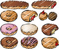 Donut illustration Royalty Free Stock Image