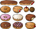 Donut illustrations Royalty Free Stock Images