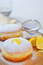 Donut with lemon Stock Image